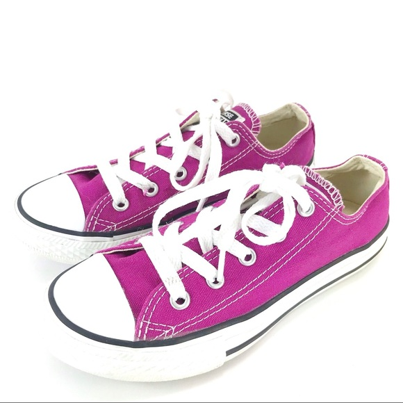classic style outlet boutique incredible prices Converse Girls Youth Purple Low Top Sneakers